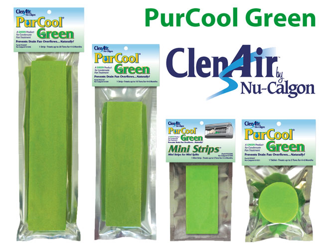Nu-Calgon PurCool Green Condensate Drain Pan Treatment
