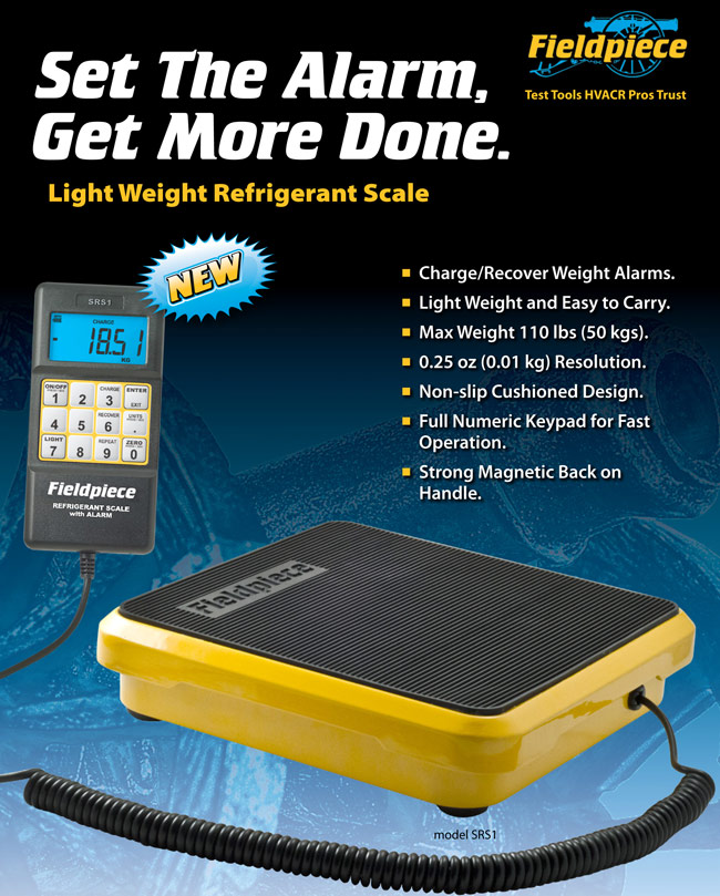 Fieldpiece SRS1 Light Weight Scale