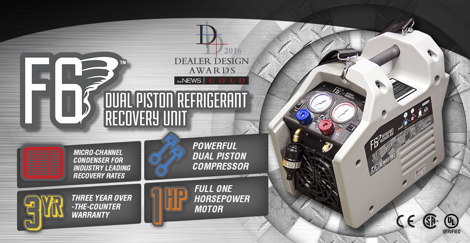 JB Industries F6 Dual Piston Recovery Unit